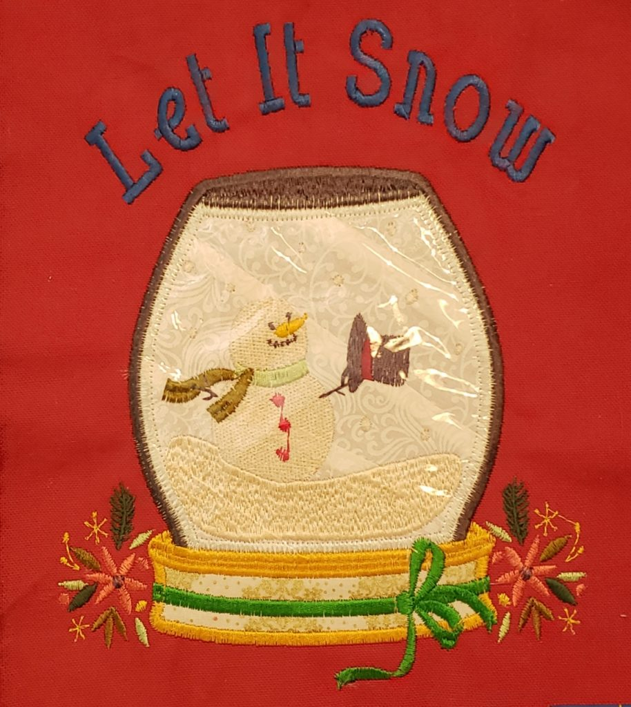 Aprons for Santa - Snow globe