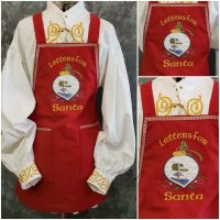 Aprons for Santa - Letters
