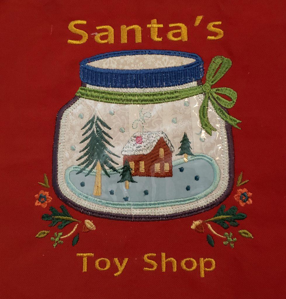 Aprons for Santa - toyshop
